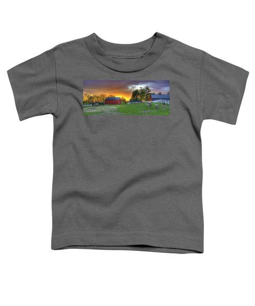 Shaker Animals At Sunset Toddler T-Shirt