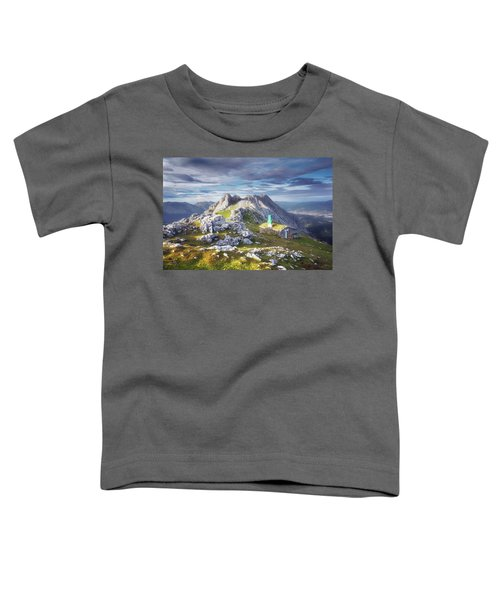 Shelter In The Top Of Urkiola Mountains Toddler T-Shirt
