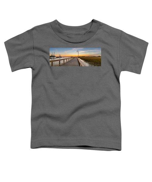 Shem Creek Pier Panoramic Toddler T-Shirt