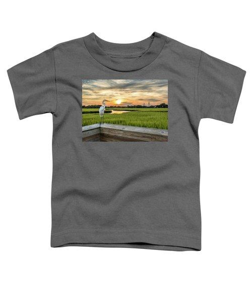 Shem Creek Pier Sunset Toddler T-Shirt