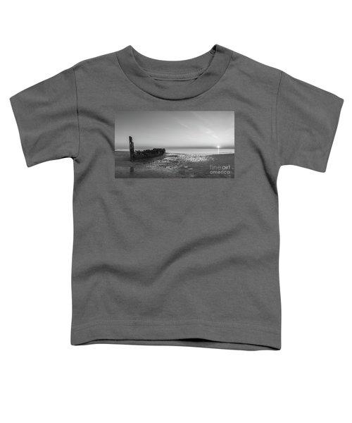 Shipwreck Panorama Bw Toddler T-Shirt