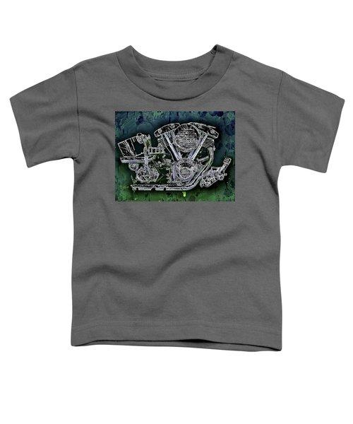 Harley - Davidson Shovelhead Engine Toddler T-Shirt