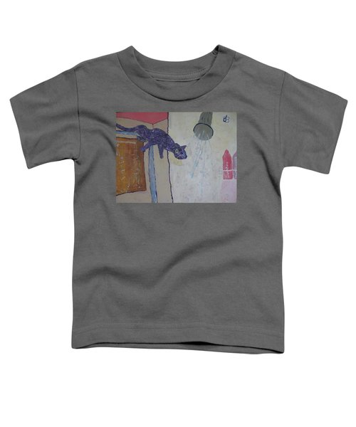 Shower Cat Toddler T-Shirt