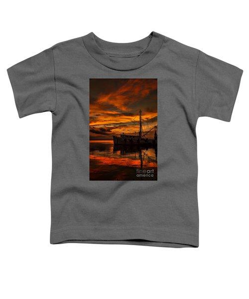 Shrimp Boat Sunset Toddler T-Shirt