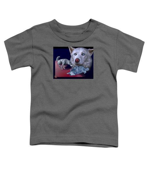 Siberian Husky - Modern Dog Art - 0002 Toddler T-Shirt