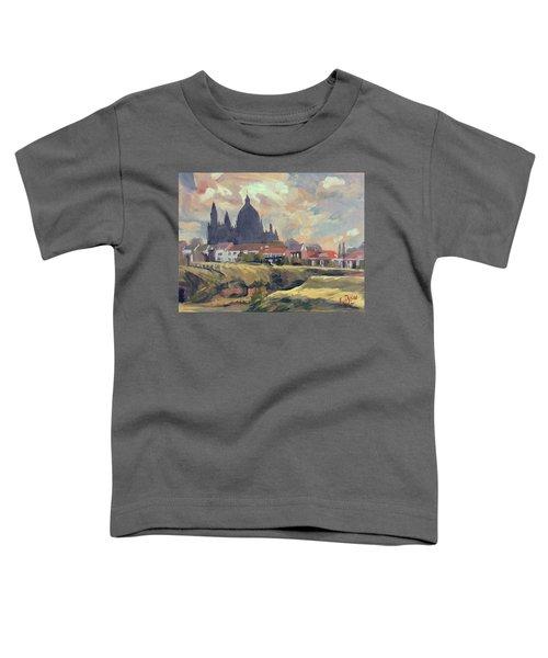 Silhouet Saint Lambertus Church Maastricht Toddler T-Shirt