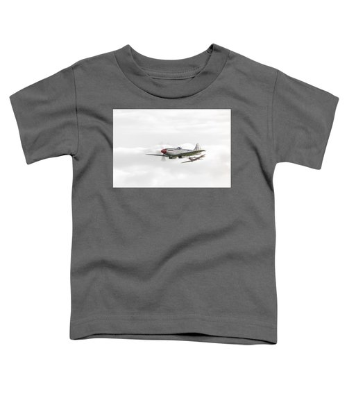 Silver Spitfire In A Cloudy Sky Toddler T-Shirt