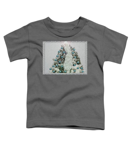 Silver Winter Bird Toddler T-Shirt