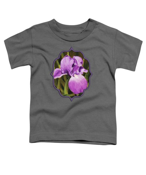 Single Iris Toddler T-Shirt by Anastasiya Malakhova