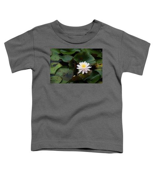 Single White Pristine Lotus Lily Toddler T-Shirt