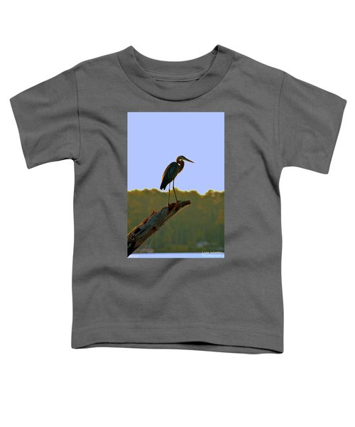 Sitting High On The Log Toddler T-Shirt