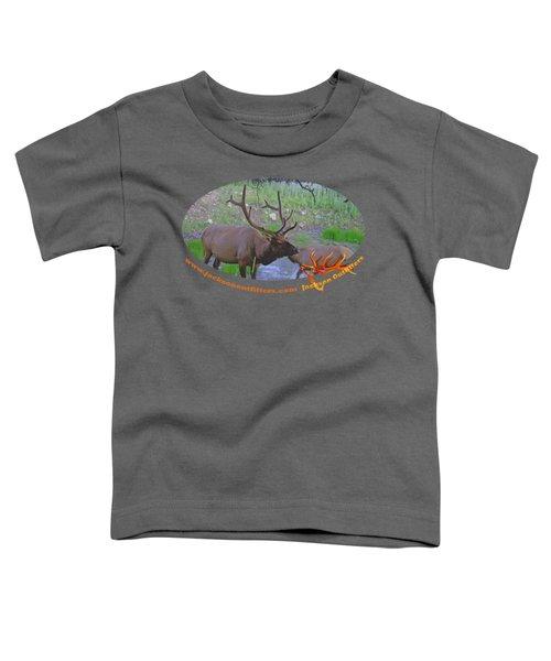 Six Point Bull Elk In Colorado Toddler T-Shirt