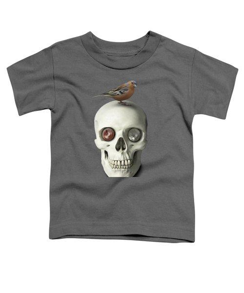 Skull And Bird Toddler T-Shirt