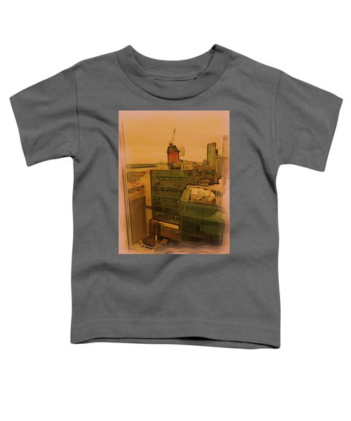 Skyline Crain Toddler T-Shirt