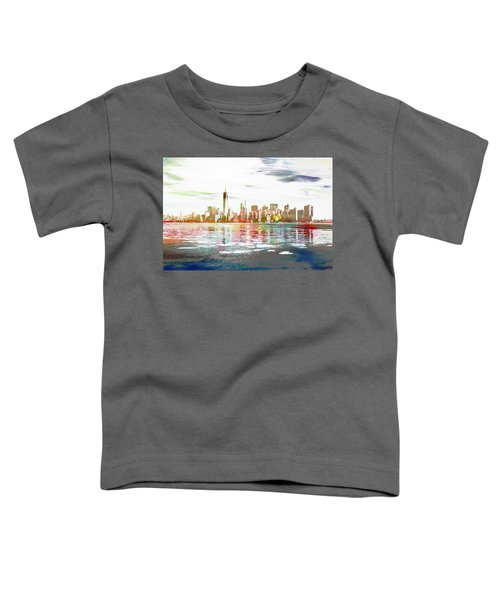 Skyline Of New York City, United States Toddler T-Shirt