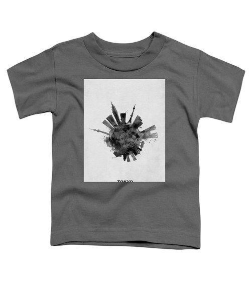 Black Skyround / Skyline Art Of Tokyo, Japan Toddler T-Shirt