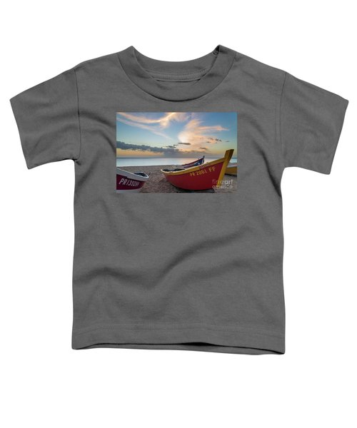 Sleeping Boats On The Beach Toddler T-Shirt