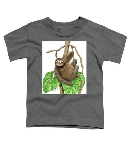 Hanging Three Toe Sloth  Toddler T-Shirt