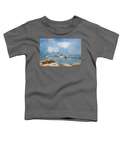 Small Dock With Boats Toddler T-Shirt