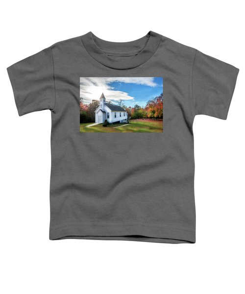 Small Wooden Church In The Countryside During Autumn Toddler T-Shirt