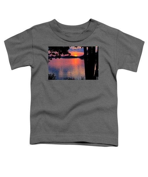 Smith Mountain Lake Sunset Toddler T-Shirt