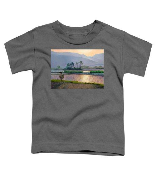 Smoky Morning Glitter Toddler T-Shirt