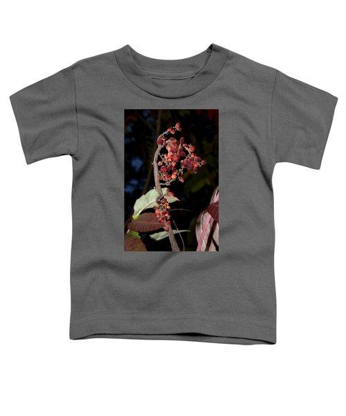 Smooth Sumac Flower Toddler T-Shirt