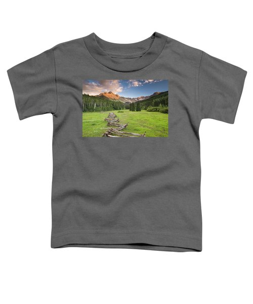 Toddler T-Shirt featuring the photograph Sneffels Fence Horizontal by Whit Richardson