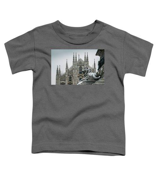 Snow At Milan's Duomo Cathedral  Toddler T-Shirt