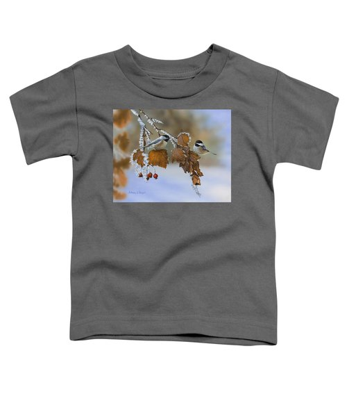 Snow Chickadees Toddler T-Shirt