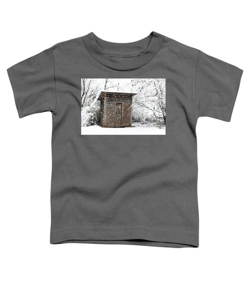 Snow Covered Outhouse Toddler T-Shirt