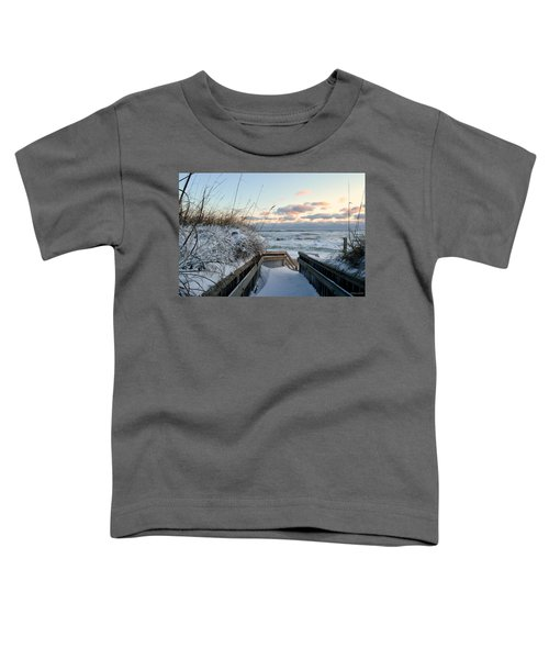 Snow Day At The Beach Toddler T-Shirt