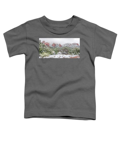 Snow On Red Rock Toddler T-Shirt