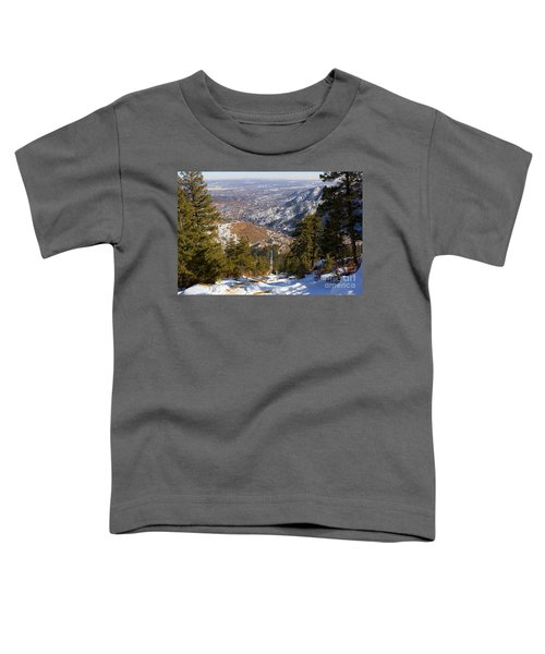 Snow On The Manitou Incline In Wintertime Toddler T-Shirt