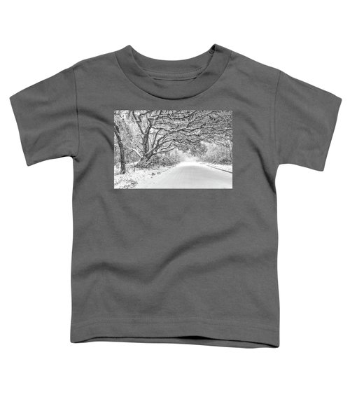 Snow On Witsell Rd - Oak Tree Toddler T-Shirt