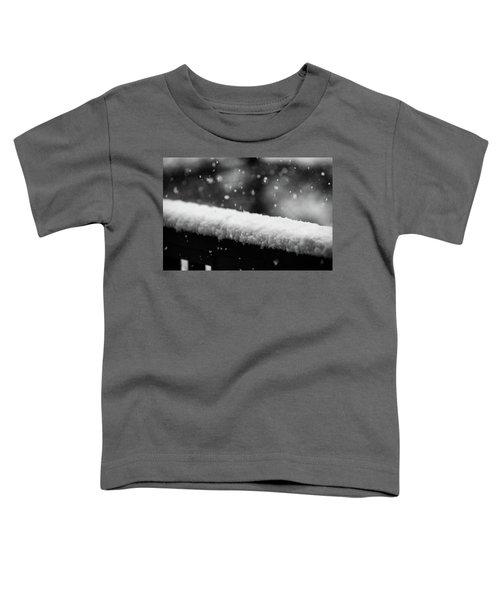 Snowfall On The Handrail Toddler T-Shirt