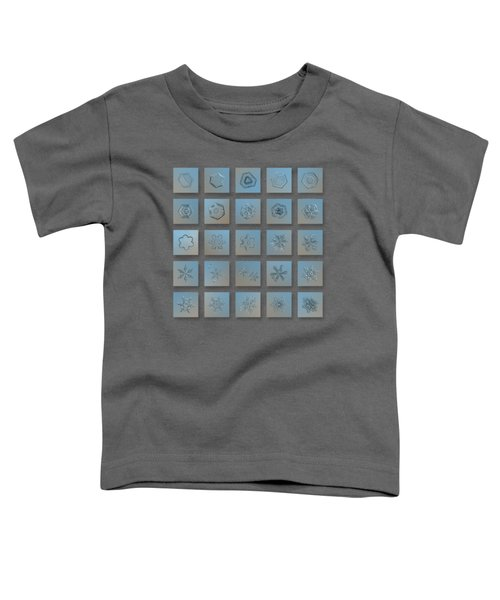Snowflake Collage - Season 2013 Bright Crystals Toddler T-Shirt