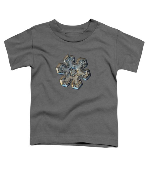 Snowflake Photo - Massive Gold Toddler T-Shirt