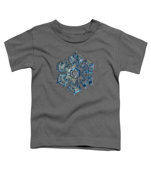 Snowflake Photo - Silver Foil Toddler T-Shirt