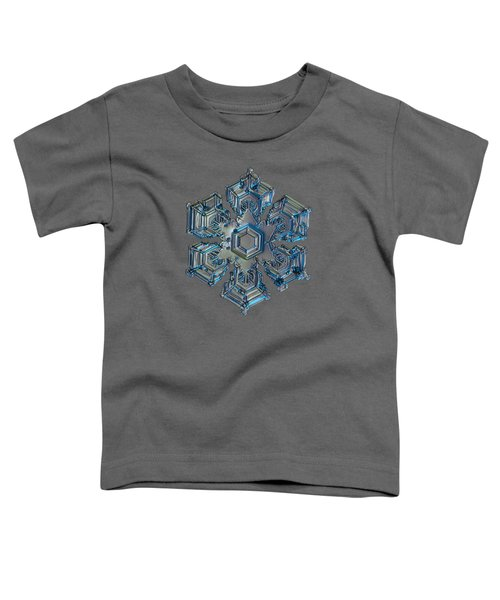 Snowflake Photo - Silver Foil Toddler T-Shirt