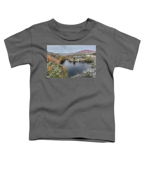 Toddler T-Shirt featuring the photograph Snowliage by Bill Wakeley