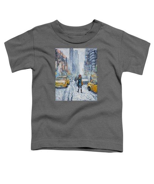 Urban Snowstorm Toddler T-Shirt