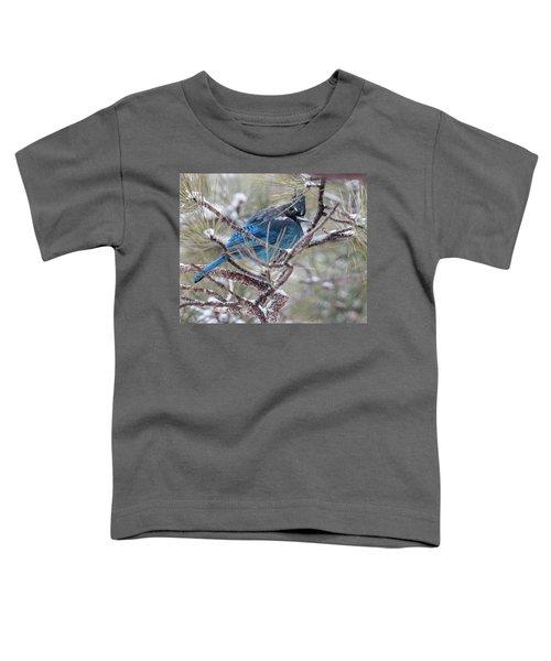 Snowy Bluejay  Toddler T-Shirt