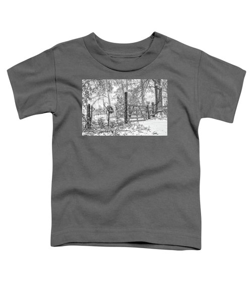 Snowy Cattle Gate Toddler T-Shirt