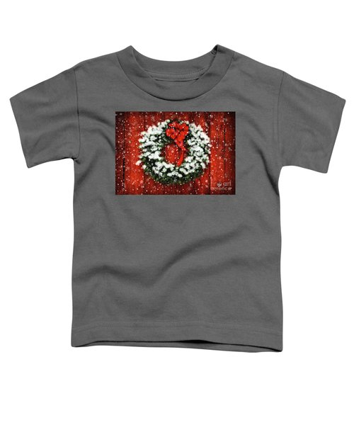 Snowy Christmas Wreath Toddler T-Shirt
