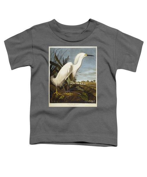 Snowy Heron Toddler T-Shirt