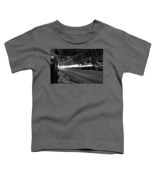 Snowy Night Light Trails Toddler T-Shirt