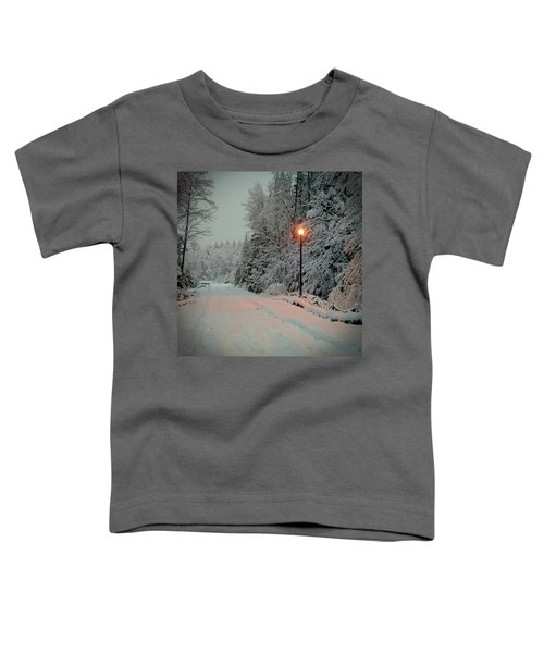 Snowy Road Toddler T-Shirt
