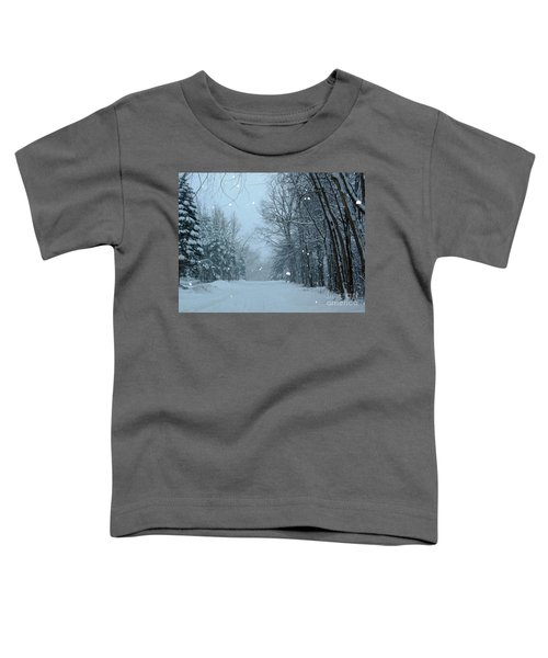 Snowy Street Toddler T-Shirt