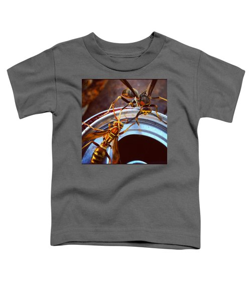 Soda Pop Bandits, Two Wasps On A Pop Can  Toddler T-Shirt